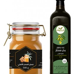 Offer olive oil and Sidr honey